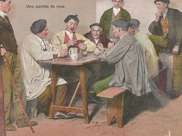 [2] 1911 Mus jokoa - 1911 Una partida de mus